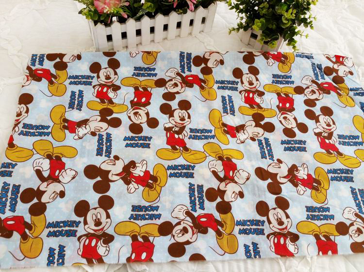 50*157cm lovely Mickey Mouse Polyester Cotton cartoon series cotton fabric, DIY handmade home textiles. patchwork fabric(China (Mainland))