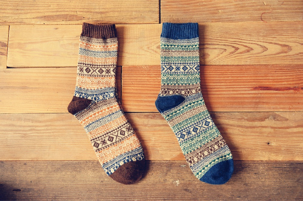 New free shipping caramella wool socks men high quality sox socks style winter warm happy s