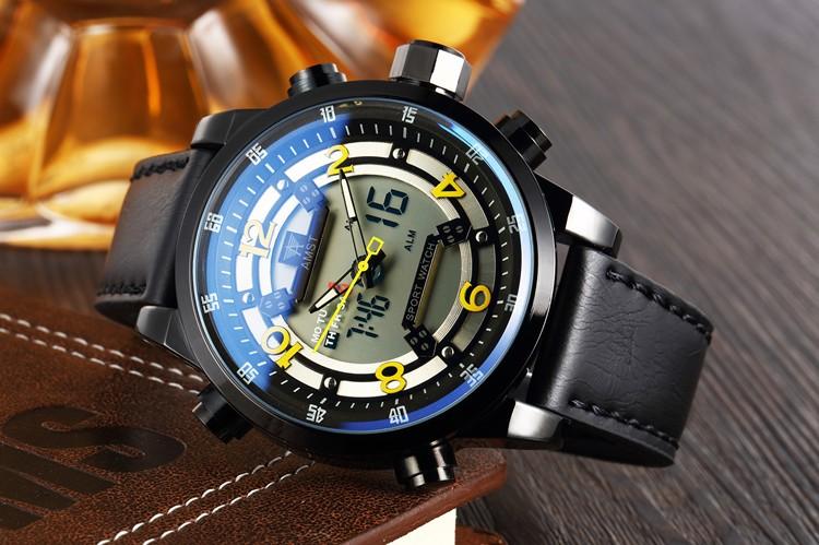Аутентичные AMST Эми, когда специальные водонепроницаемые часы двойной дисплей многофункциональный военная Люксовый Бренд Relógio Наручные Часы