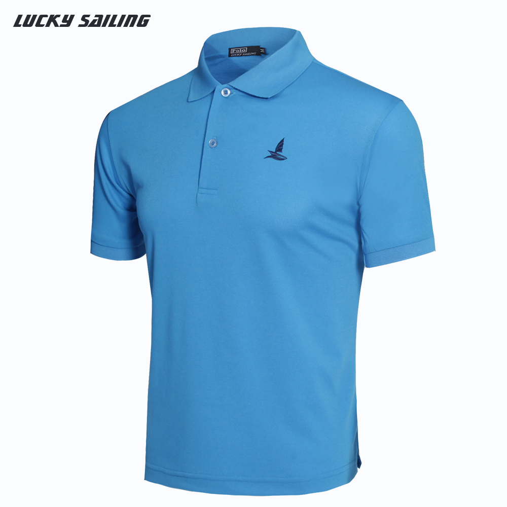 LUCKY SAILING 2015 New Men's T-Shirts Brand Cotton T Shirt Men Short Sleeve Casual Shirt Quick Dry Fit Plus Size M-XXL Tops&Tees(China (Mainland))