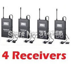 4pcs/Lot Takstar WTG-500 UHF Wireless audio system for Tourist guide 4 Receiver +4 In-Ear Earphone [Not Include Transmitter](China (Mainland))