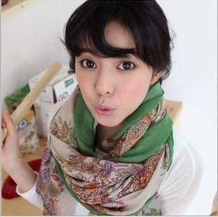 2016 новых тонких моделей сладкий пастырской ретро цветочные пейсли шарфы чешские тотем женщины платки большой размер : 180 * 90 см