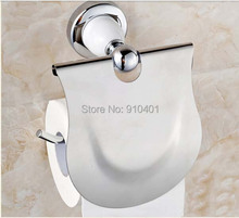 Retail Promotion NEW Chrome White Painting Bath Toilet Paper Rack Tissue Bar Holder Wall Mounted - GOODFAUCET store