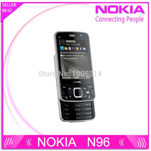 Refurbished N96 Original cell phone Nokia N96 16GB Storage 3G WIFI GPS Camera 5MP Free Shipping(China (Mainland))