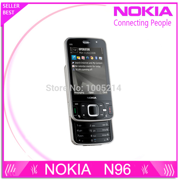 Refurbished N96 Original cell phone Nokia N96 16GB Storage 3G WIFI GPS Camera 5MP Free Shipping(China (Mainland))
