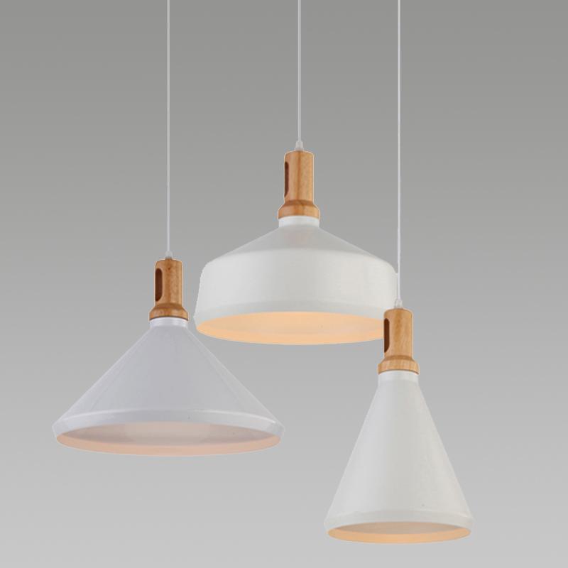 Modern Creative Pendant Lights White Lampshade Simple Oak Wood &amp; Aluminum Loft Pendant Lamps Indoor Lightings For Living Room<br><br>Aliexpress