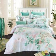 2016 Summer Queen/King Tencel Silk Bed Set Tencel Bedding Set Boho Style Bedding Moroccan Paisley Duvet Cover Set 4 PCS(China (Mainland))