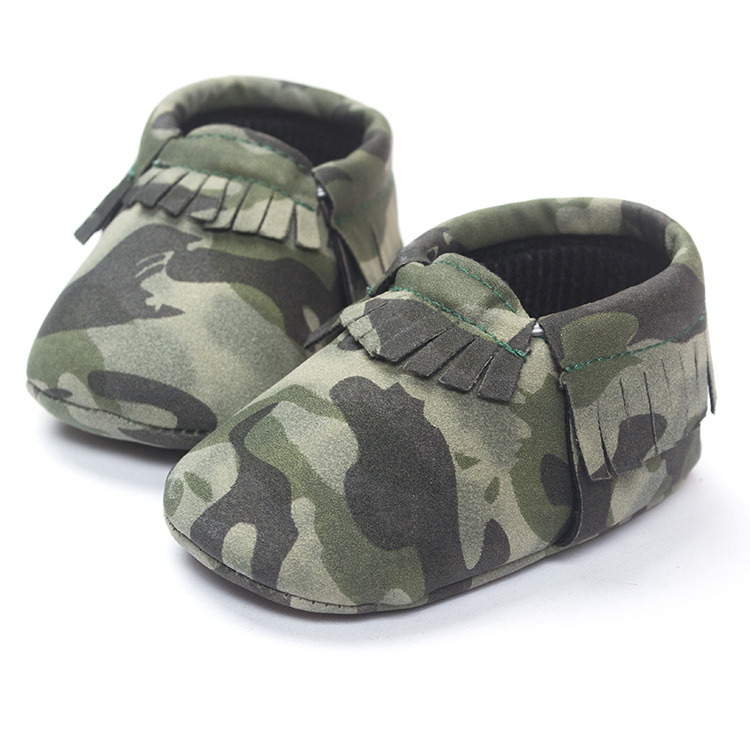 Totem Printing Toddler Shoes Camo Tassels Leather Baby Leisure 0-18M Moccasins Newborn Babies ROM07 - Nanaleer Online Store store