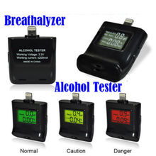 Car Accessories Digital Alcohol Tester Breathalyzer Backlight for iPhone 5S iPhone 6s 6S Plus(China (Mainland))