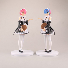 Buy Re: Life In A Different World From Zero Ram & Rem Action Figure Housemaid Ver. Rem & Ram PVC figure Toys Brinquedos Anime 17CM for $23.74 in AliExpress store