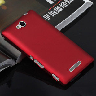 Luxury Rubber Matte Hard Case Cover for Sony Xperia C S39h C2305 C2304 Back Cover Shell 3pcs/lot=( 1 Case + 1 Flim + 1 Pen )(China (Mainland))