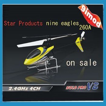 Star products  Free Shipping Nine Eagles  260A 100%RTF Solo Pro 4ch Mini RC Helicopter
