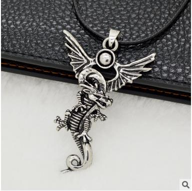 2016 Time-limited Special Offer Men Slide Metal Trendy Kolye Collares Western Dragon Pendant Accessories Vintage Men's Necklace(China (Mainland))