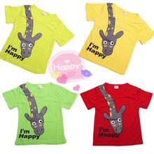 cotton cute boy outfits short sleeve children t shirts cute animal cartoon t-shirt candy color bottoming t shirt nova kids