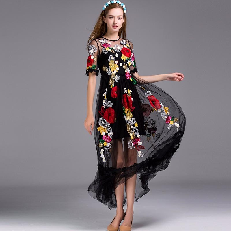 Модный Платья С Вышивкой