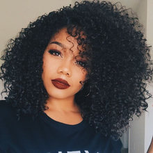 """17"""" Afro Wig Long Kinky Curly Wigs For Black Women kylie jenner Cheap Blonde Wig African American Short Wigs For Black Women(China (Mainland))"""