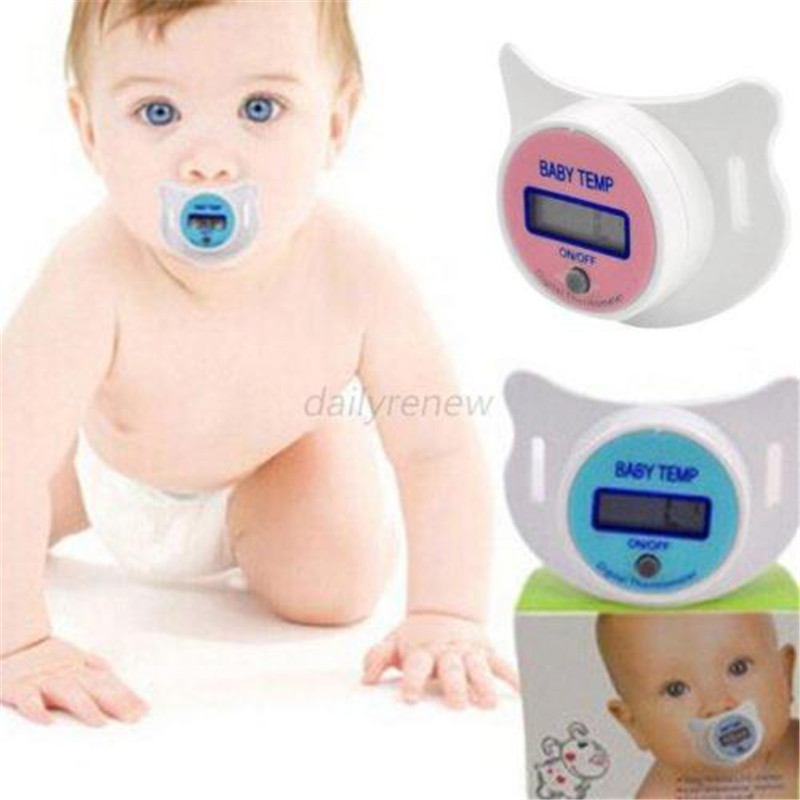 Practical Baby Infant Newborm Kid LCD Digital Safety Health Mouth Nipple Dummy Pacifier Thermometer Temperature(China (Mainland))