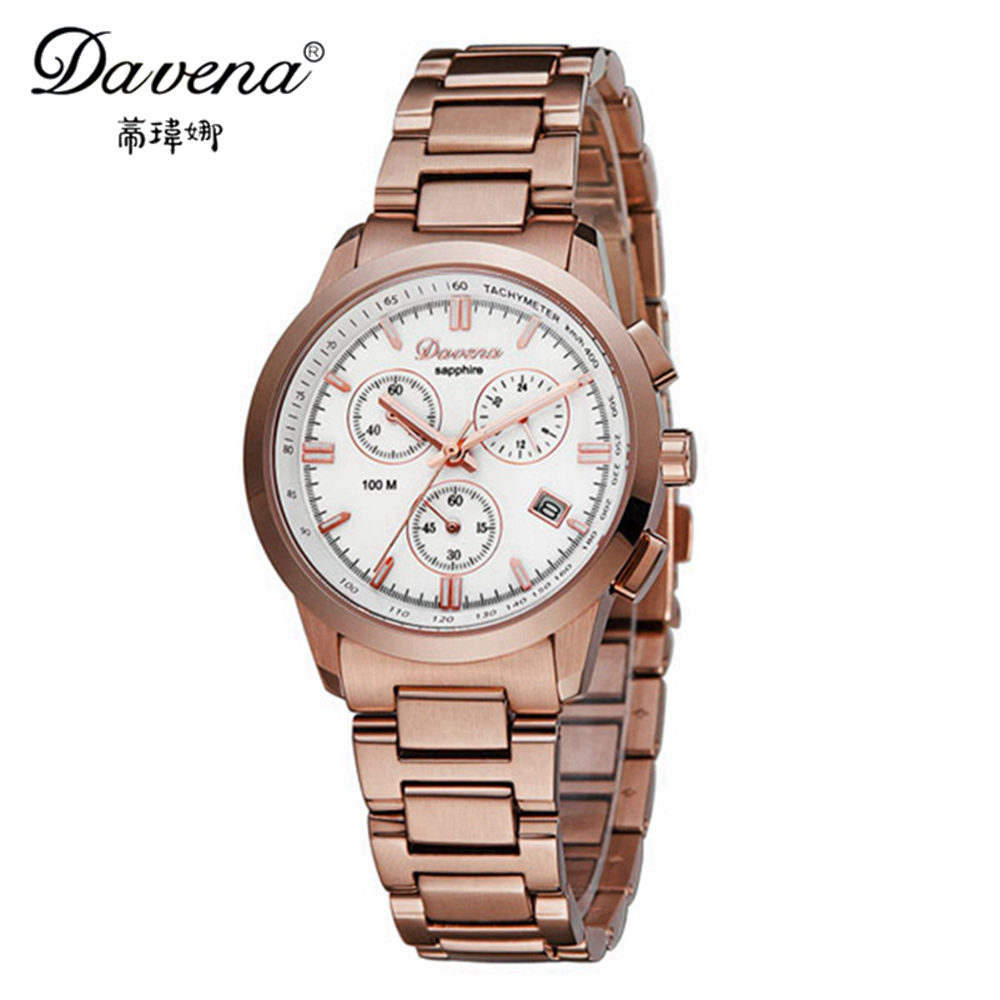 Здесь можно купить  2014 New women dress rhinestone watches fashion casual quartz watch steel band Hot sale Luxury brand Davena 60566 relogio gift 2014 New women dress rhinestone watches fashion casual quartz watch steel band Hot sale Luxury brand Davena 60566 relogio gift Ювелирные изделия и часы