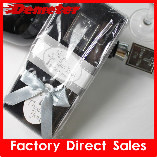 ZK Wine Accessories Retail and Wholesale Deluxe Gift Cross Shape Wine Stopper Wedding Gift box 5pcs/lot love 100g Free Shipping