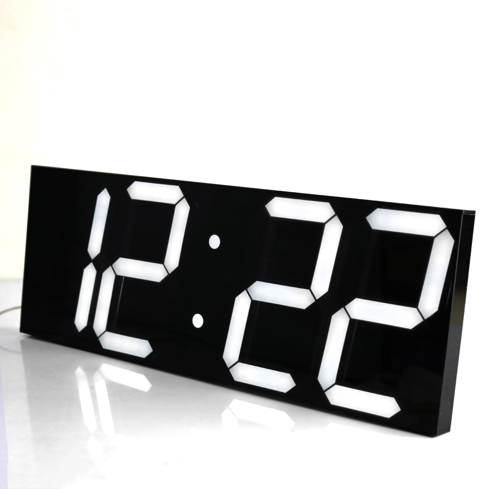 Large Digital Wall Clock Display Electronic Calendar Temperature In The Living Room Wall Watch 3d Wall clcok Home Decor(China (Mainland))