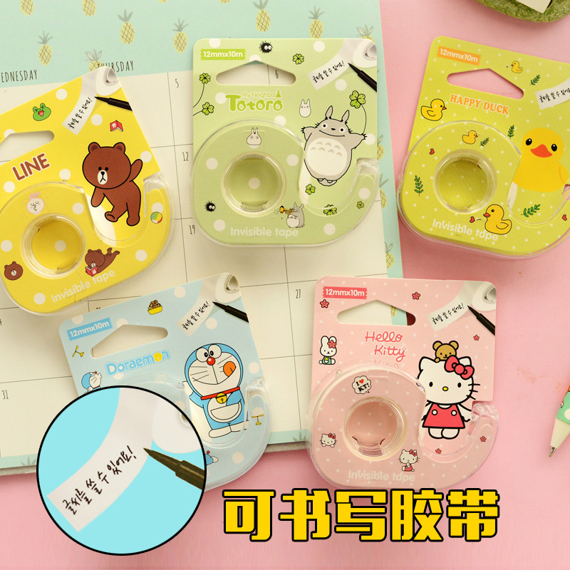 An installation of Korea cute free stickers post notes stickers can be hand written Invisible Tape(China (Mainland))
