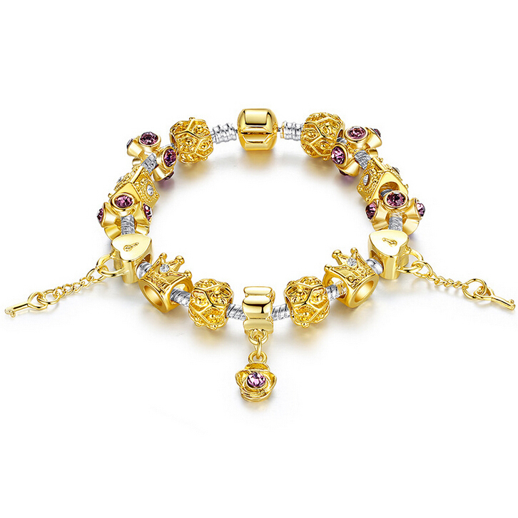 free shipping popular 14k gold plated crown charm