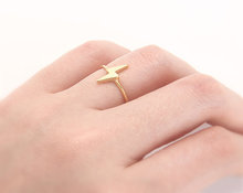 2015 Fine Jewelry Gold Plated Unique Lightning bolt Thunderbolt Scar Knuckle Ring Women Men Jewelry