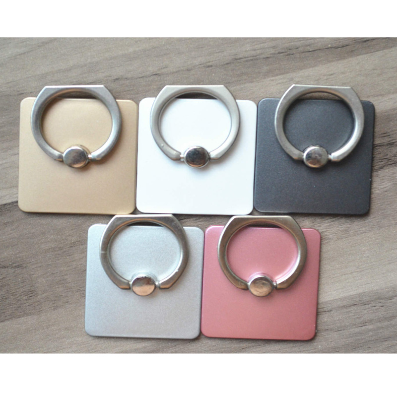 Finger buckle phone stand Ring brackets 360 Rotate the phone holder Finger buckle metal Car phone stand(China (Mainland))