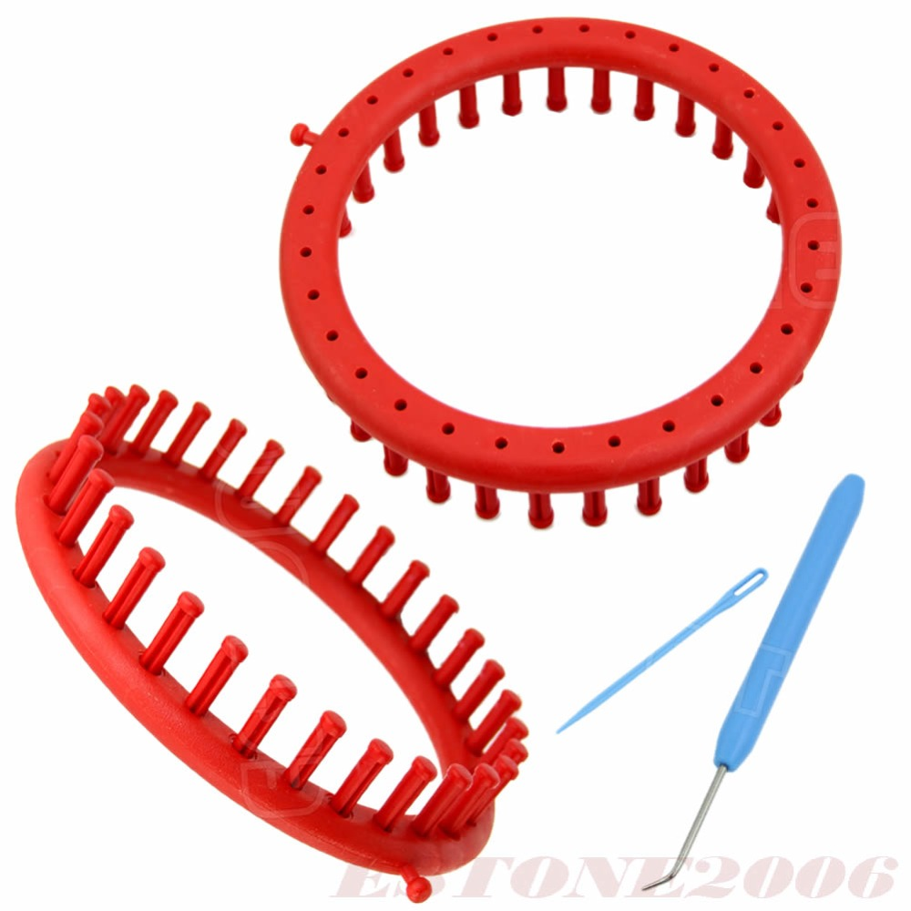 Classical Round Circle Hat Red Knitter Knifty Knitting Knit Loom Kit 19CM Free shipping(China (Mainland))
