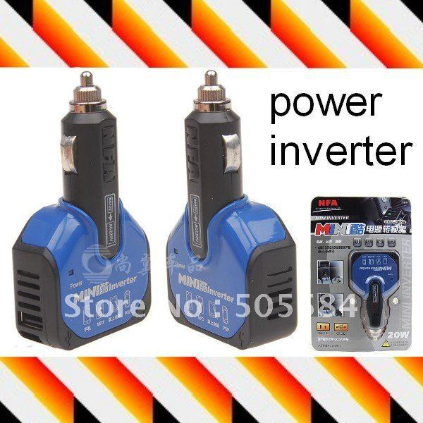 Mini Car power inverter Converter DC 12V to AC 200V with USB charger