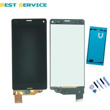 For Sony Xperia Z3 Compact LCD Z3 mini LCD D5803 D5833 LCD Display Digitizer Touch Screen Assembly +Sticker +Tools Free shipping