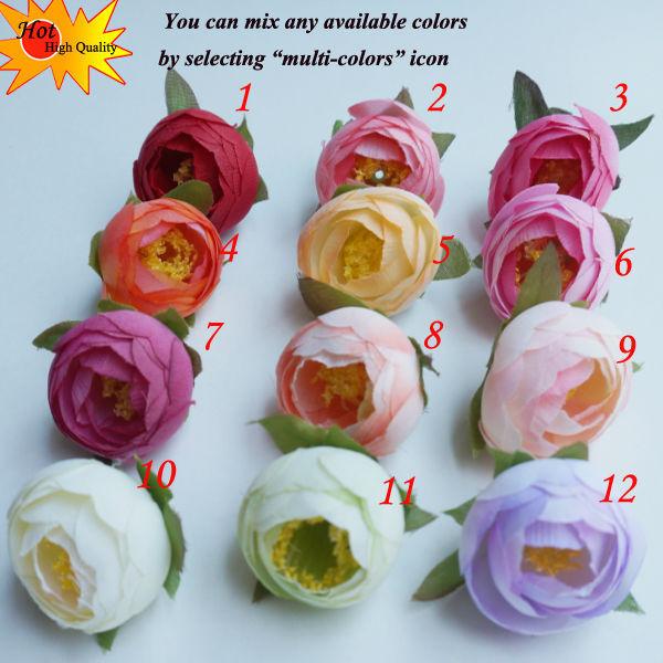 100pcs/lot Artificial Flowers Silk Camellia Tea Rose Heads Decorative Flowers DIY Craft Supplies Of Wreath flores artificiais(China (Mainland))