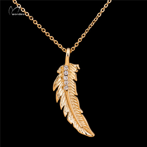 Party Gift Choker 2016 Turkish Jewelry Silver Gold Cool Vintage CZ Feather Statement Necklace Women Men Collier - CC Helen store