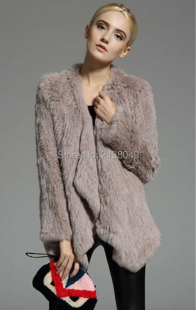FC00103 Оптовая и Розничная Подлинная трикотажные кролика шубы для женщин