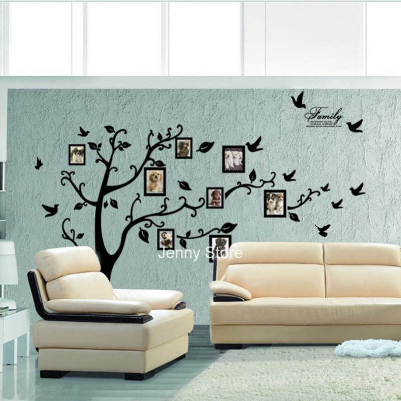 """99""""x79""""Home Decor Family Tree Photo Frame Room Decal Wall Sticker Extra Large"""