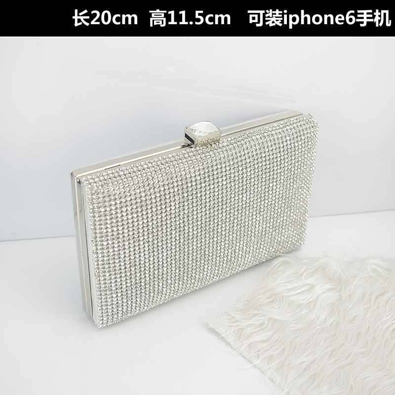 Woman Evening bag Women Diamond Rhinestone Clutches Crystal Day Clutch Wallet Wedding Purse Party Banquet Silver message bag<br><br>Aliexpress