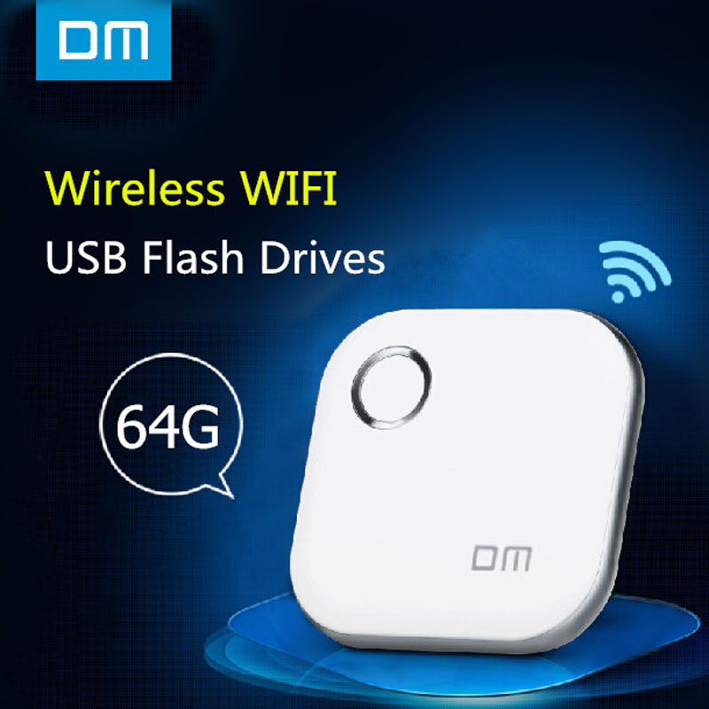 Wireless USB Flash Drives 64GB DM WFD015 Wifi For iPhone / Android / PC Smart Pen Drive usb memory stick smart usb flash drive(China (Mainland))