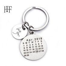 Dia dos pais Venda Calendário Personalizado Homens Aniversário Criativo Handwork Llaveros Chaveiro Personalizado keychain Presente de Aniversário de Casamento(China)