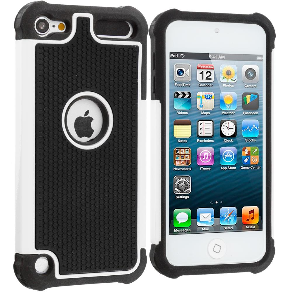 Phone Case For Apple iPod Touch 5 6 Gen Protective Back Cover Silicone Durable Shockproof Rugged Armor Kickstand Hard Stand(China (Mainland))