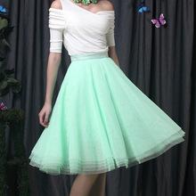 Лучшие продажи весной и летом принцесса платье-линии дамы тюль женская юбка