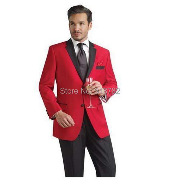 2018 Wholesale 2016 Men Formal Dress Suits Fashion Red Best Man Suit ...