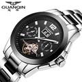 Brand GUANQIN Watch Men Ceramic Watch Waterproof 30m Mechanical Watches Luxury Brand Men s Big Dial
