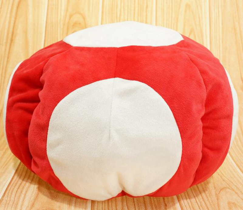 """Cartoon Super Mario Mushroom Red Toad plush doll stuffed toy warm hat cosplay cap collection winter indoor 12""""(China (Mainland))"""