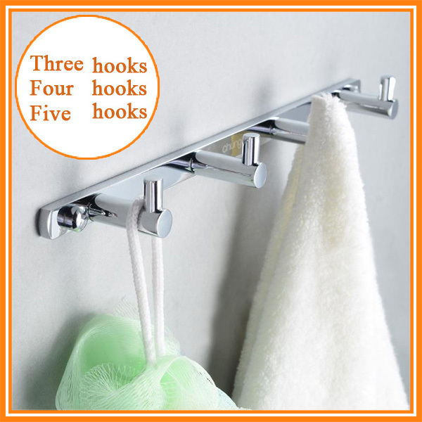 3/4 Robe Hooks,Towel/Clothes Hook,Solid Brass Construction with Chrome finish, Kitchen/Bathroom Hardware,Bathroom Accessories