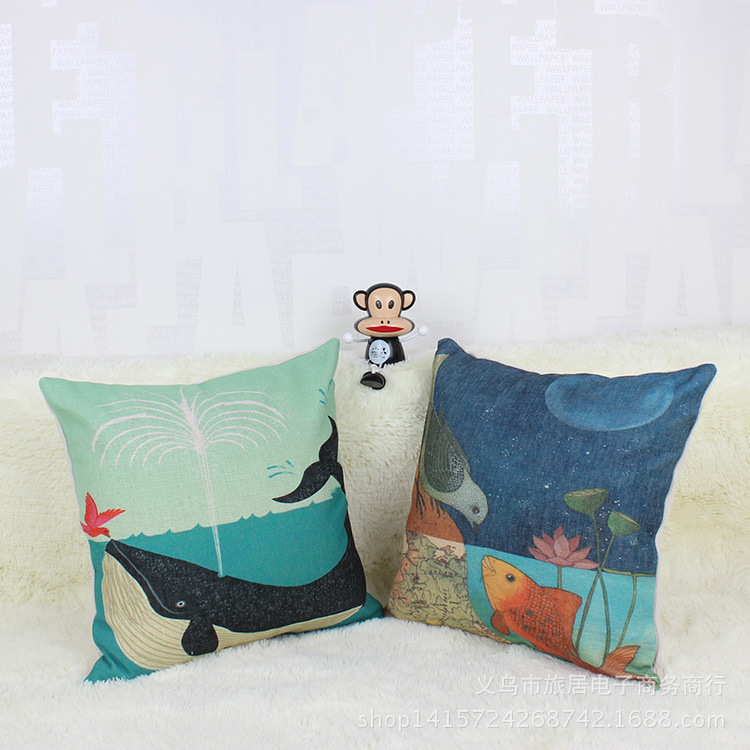 45 *45cm Animal Decorative Design Cushion Cover Pillowcase Sofa Home Decor Pillow Case Fronha Carro Dakimakura Capa De Almofada