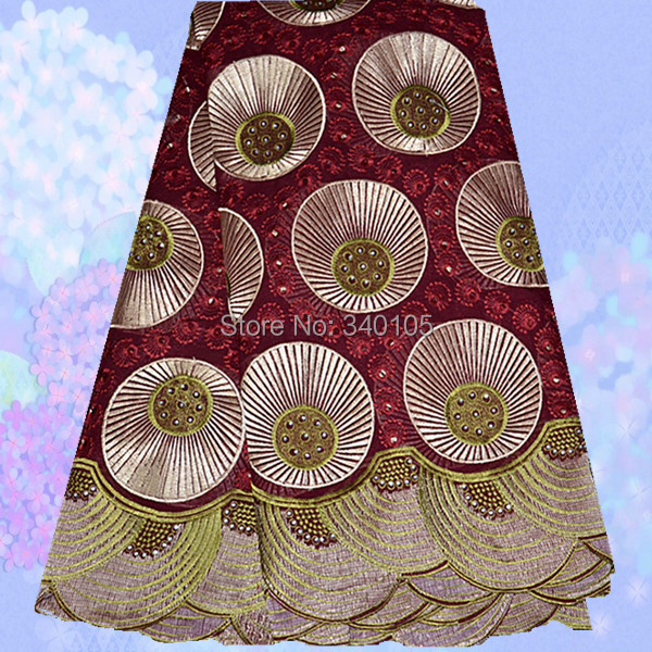 Здесь можно купить   No.PC51-2,Hot sale beautiful cotton African style voile lace fabric,new design african swiss lace fabric in wine+gold!   Дом и Сад