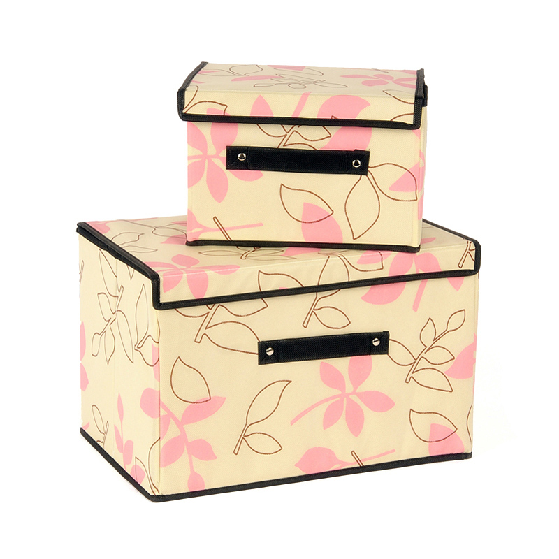 2 Pcs/Set Clothing Organizer 6 Styles High Quality Storage Box Top Fashion 2016 Newest Arrival Non-woven Cardboard Organizadora(China (Mainland))