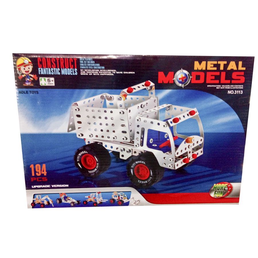 194pcs metal truck diecast construct fantastic collectible car models Hands-on brain toys not compatible with lego technic(China (Mainland))