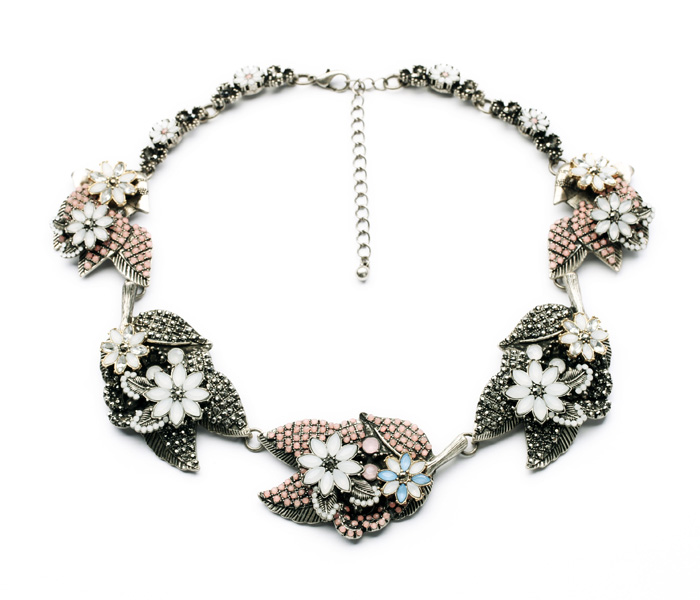 N00866 New Arrival 18 Light Gold 2014 Women Short Choker Wholesale Women Fashion Accessoires Imitated Chunky Necklaces(China (Mainland))