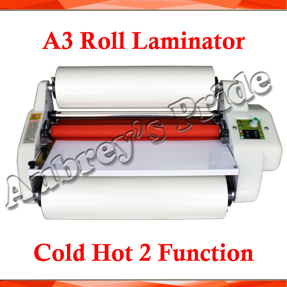 "A3 12.5"" High Speed Thermal Hot Cold Laminating Machine Mounting Roll Laminator + 2Matt Satin Bopp 200M Film(China (Mainland))"